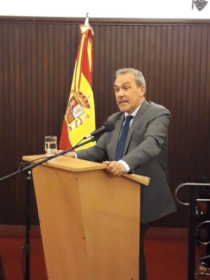 Agustin Torres en el Centro Galicia de Buenos Aires
